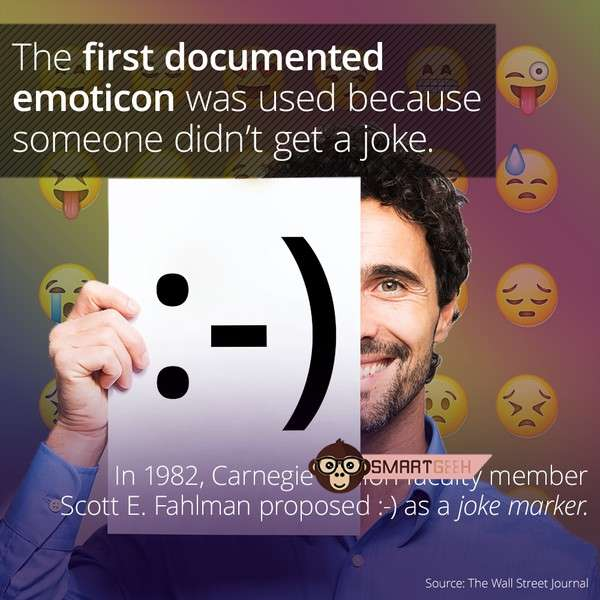 Do You Know ? The First Documented Emoticon Was Proposed After A Bad Joke