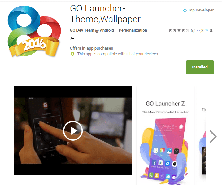 GO Launcher Android Fonts