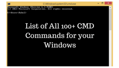 100+ CMD commands