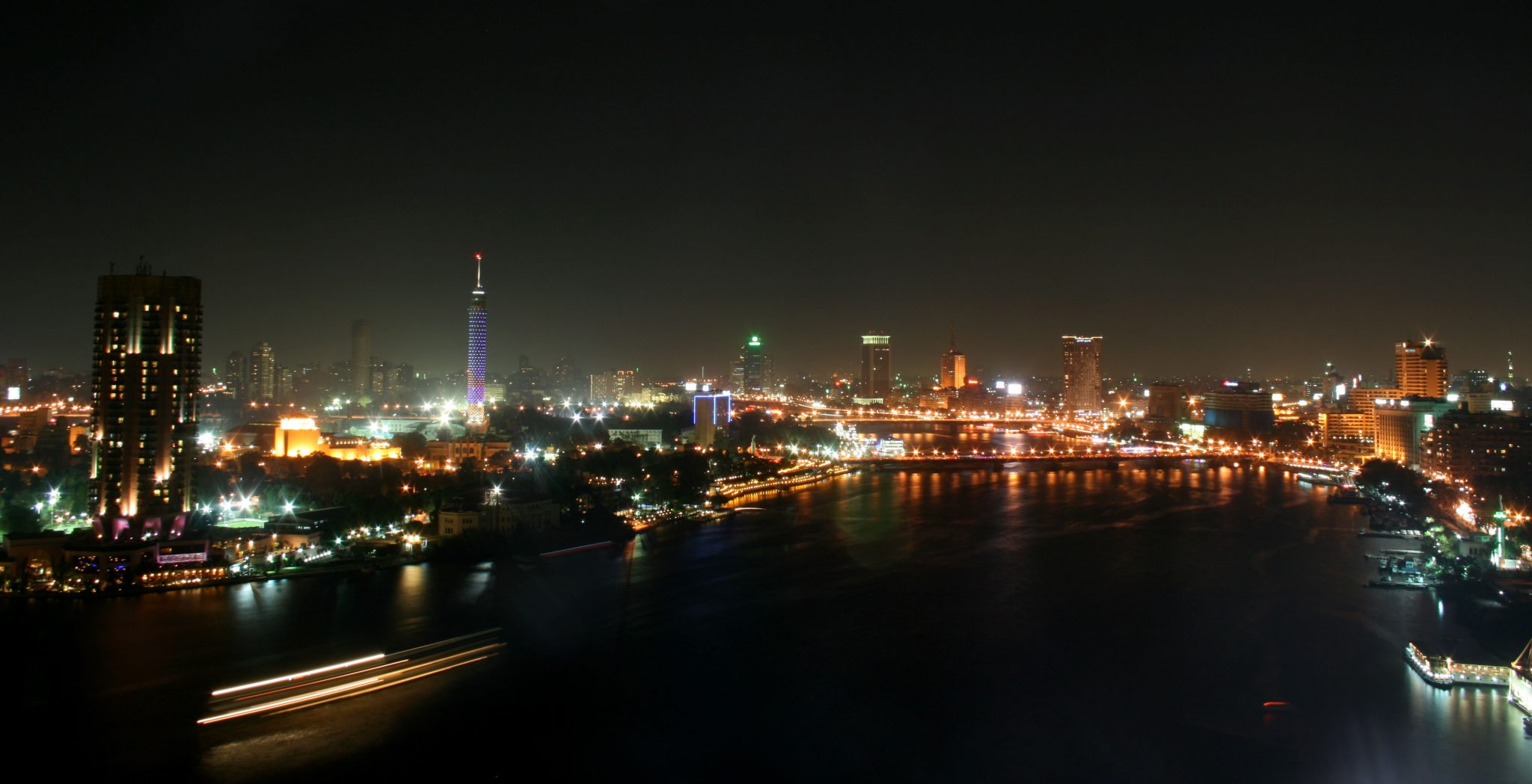 cairo, egypt at night