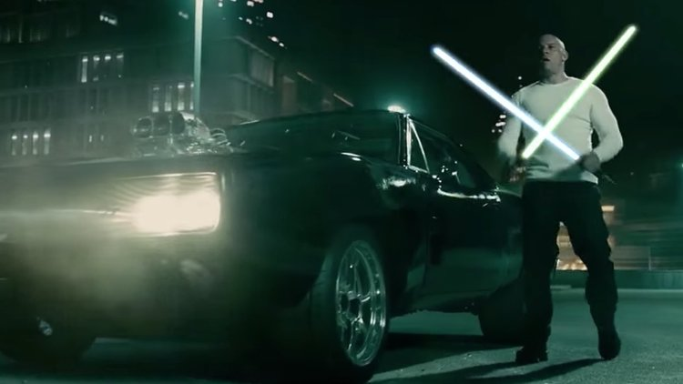 WATCH: Vin Diesel Battle Jason Statham with Light-sabers in FURIOUS 7