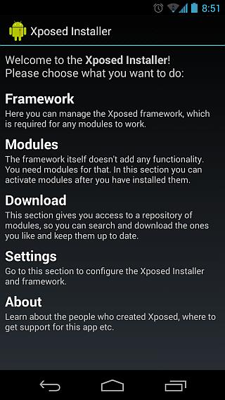 Xposed Framework installer