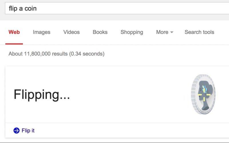 FLip a coin google