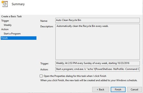 How-to Automatically Empty Recycle Bin