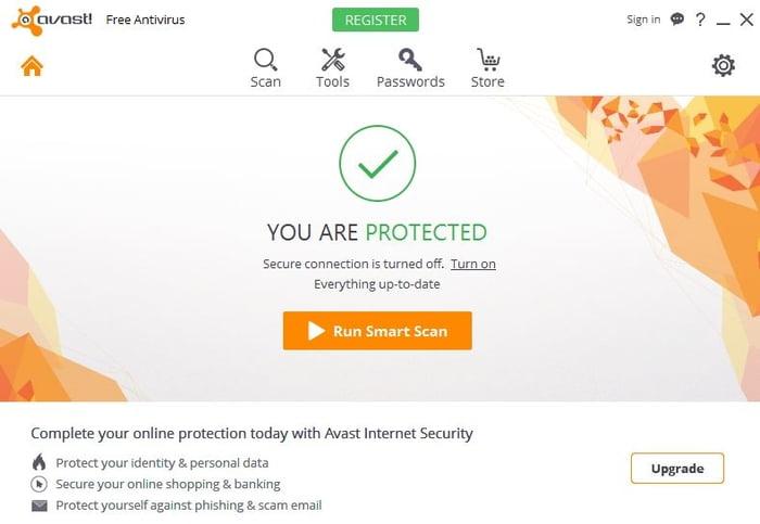 Avast Free Antivirus.