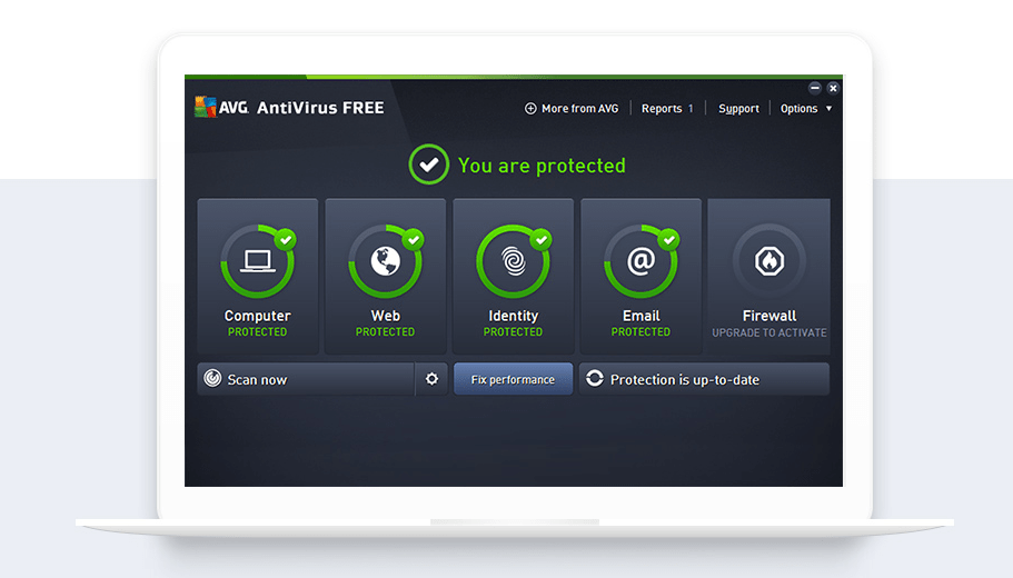 Download AVG Free Antivirus.