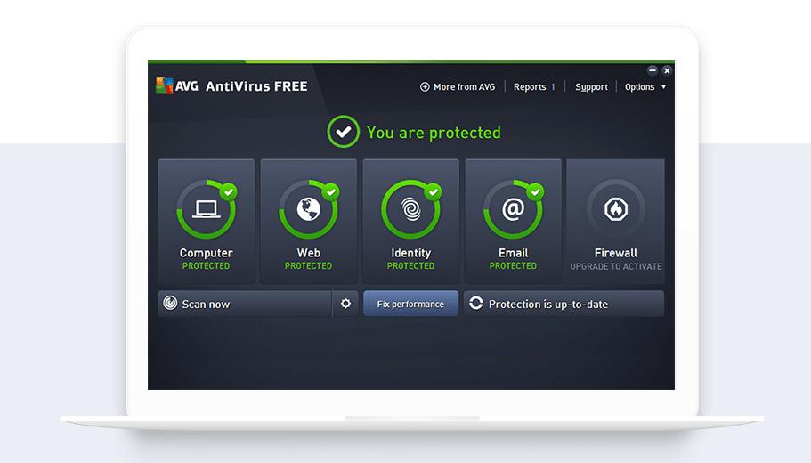 Download AVG Free Antivirus.