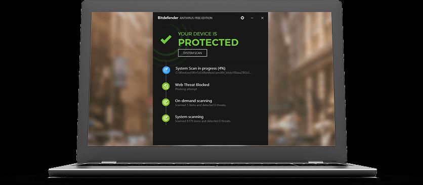 BitDefender Antivirus Free Edition.