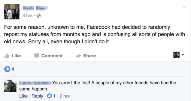 oacas5z0p04jahz6crvs New Facebook glitch has old updates re-posted, without users consent