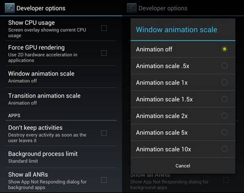 Reduce Battery Consumption By Altering Animation Effects