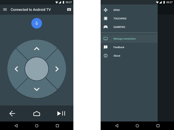 Remote control Android App