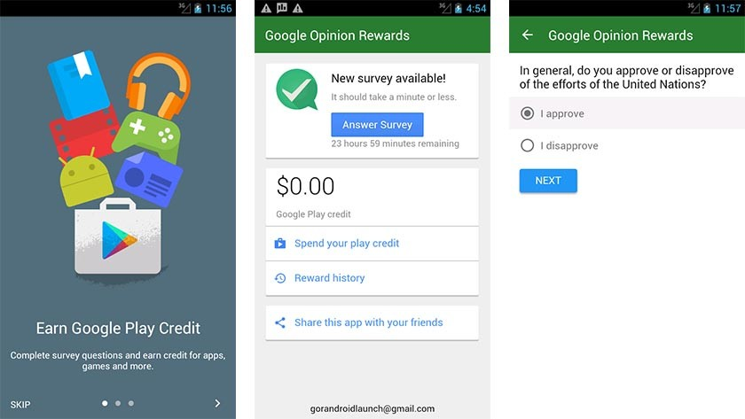 Google Opinion Rewards: