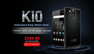OUKITEL K10 presale 1 DEAL: OUKITEL K10 4G Phablet (BLACK) for $249.99 - ₦95,000 on Gearbest