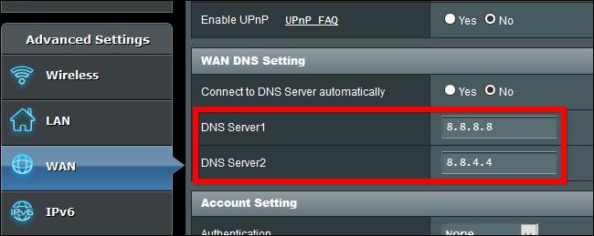 DNS Server change spectranet, ntel,