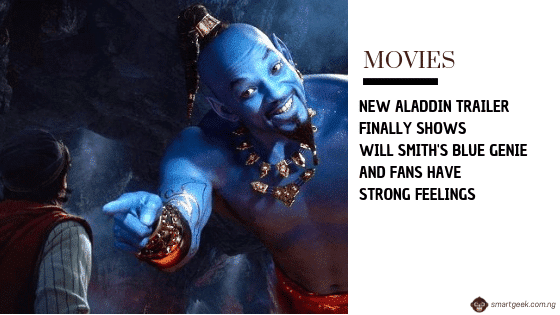 'Aladdin' Teaser Finally Reveals Will Smith's Blue Genie