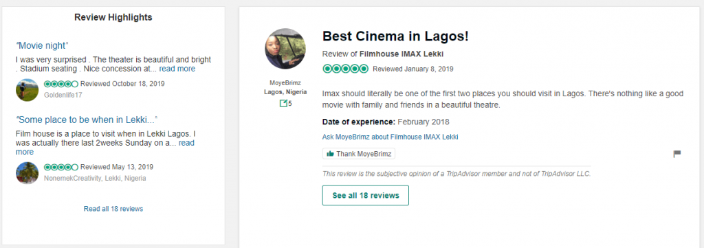 image The Absolute Best Movie Theaters (Cinema) in Lagos