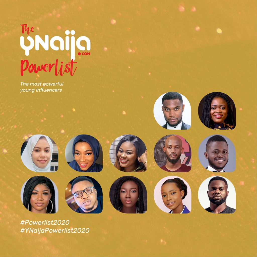Power list Influencer 13 Tacha, Aproko Doctor and 10 other Influencers who made it to the #YNaijaPowerList 2020