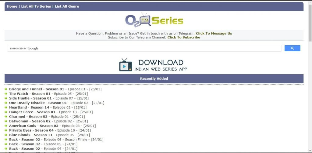 Landing Page About O2TvSeries and Why it is so popular in Nigeria.