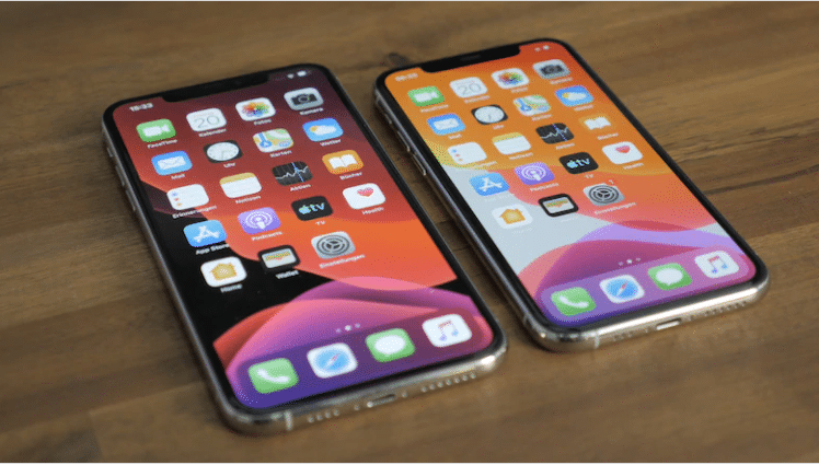 iPhone 11 Pro Max and iphone x