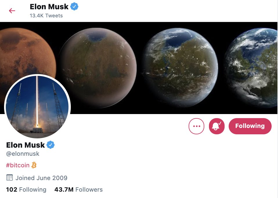 "elon bitcoin Elon Musk tweeted ""Doge"", Dogecoin price rose by 50 percent."
